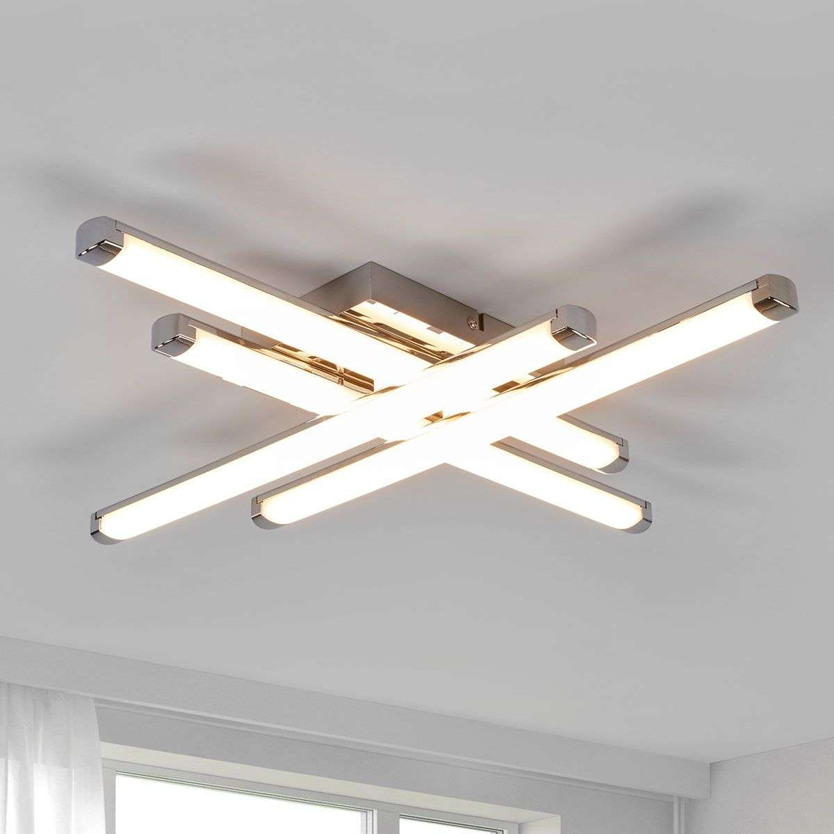 ceiling lighting smart twist steel image led brushed finish light lights modern polina effect in contemporary