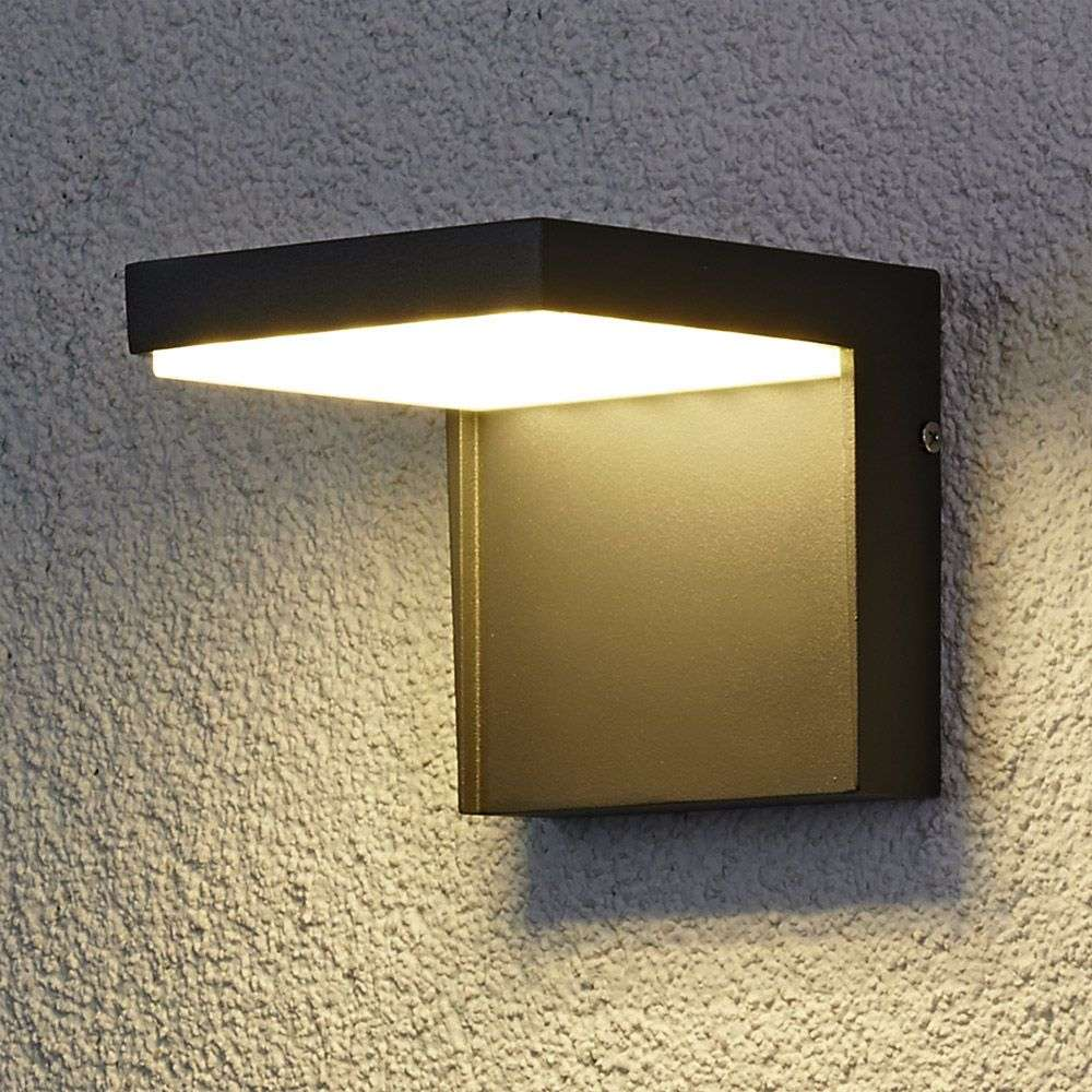 Modern rachel led outdoor wall light aluminium for Appliques led exterieur