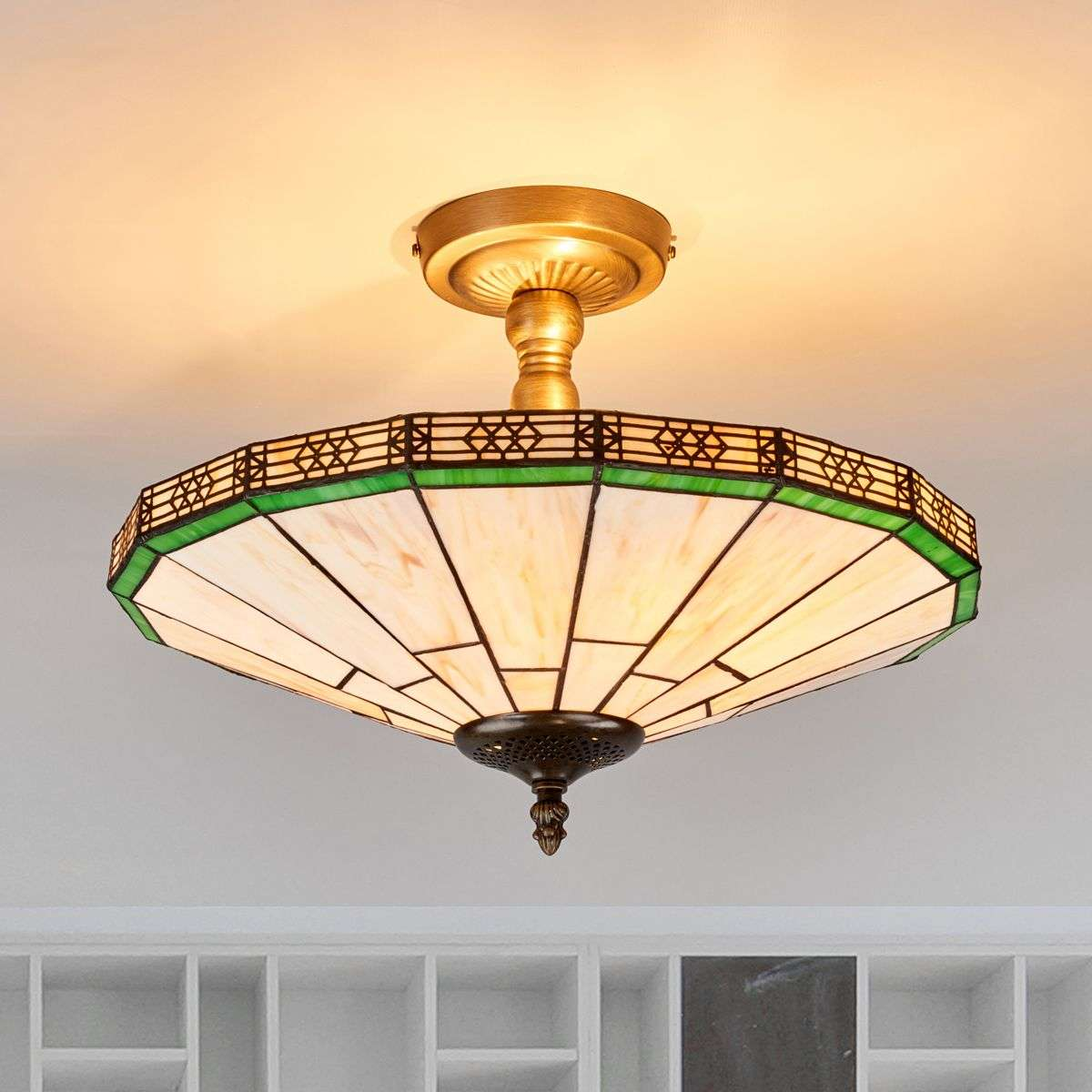 New york classic tiffany style ceiling light lights new york classic tiffany style ceiling light aloadofball Image collections