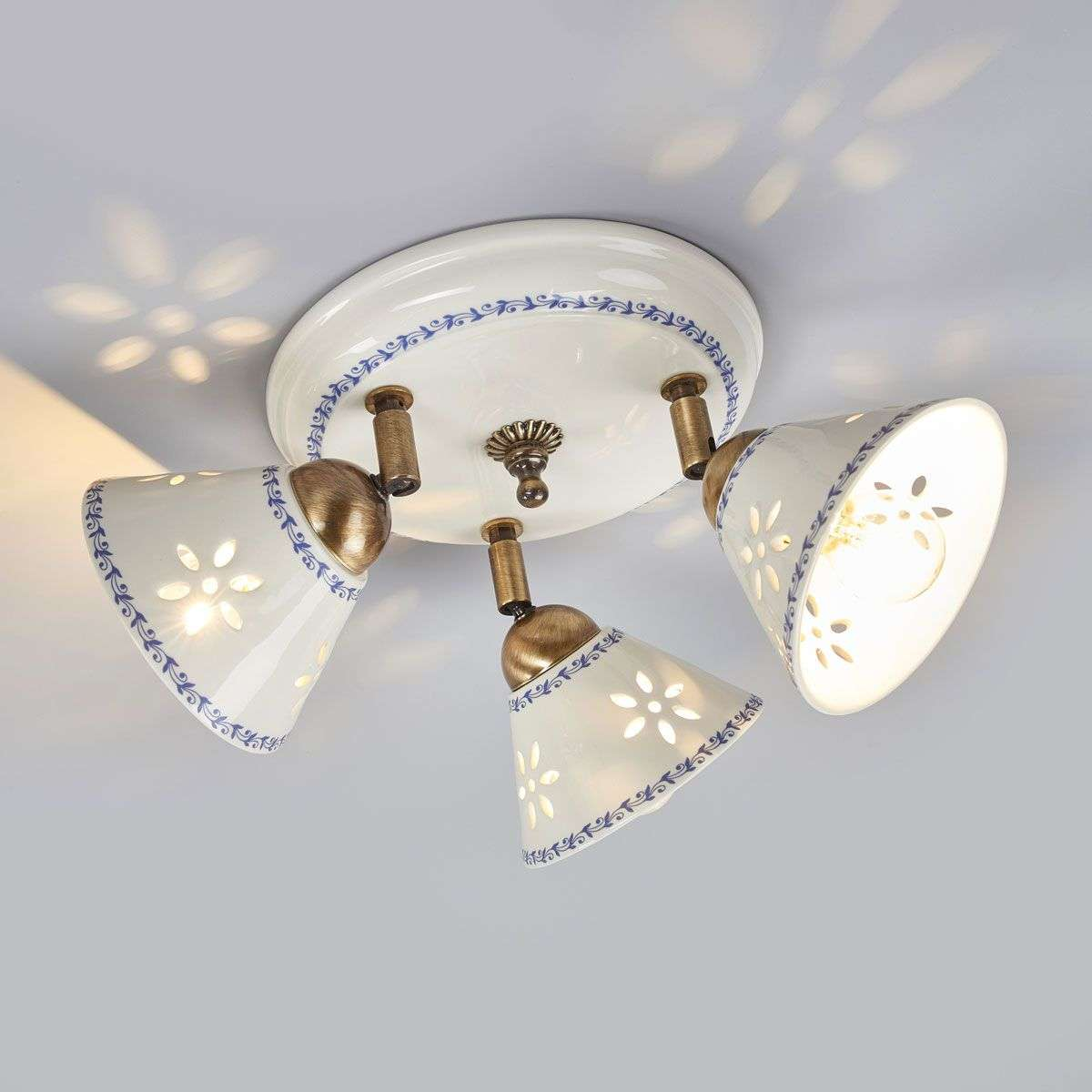 Nonna ceiling light made of white ceramic 3 bulb lights nonna ceiling light made of white ceramic 3 bulb aloadofball Image collections