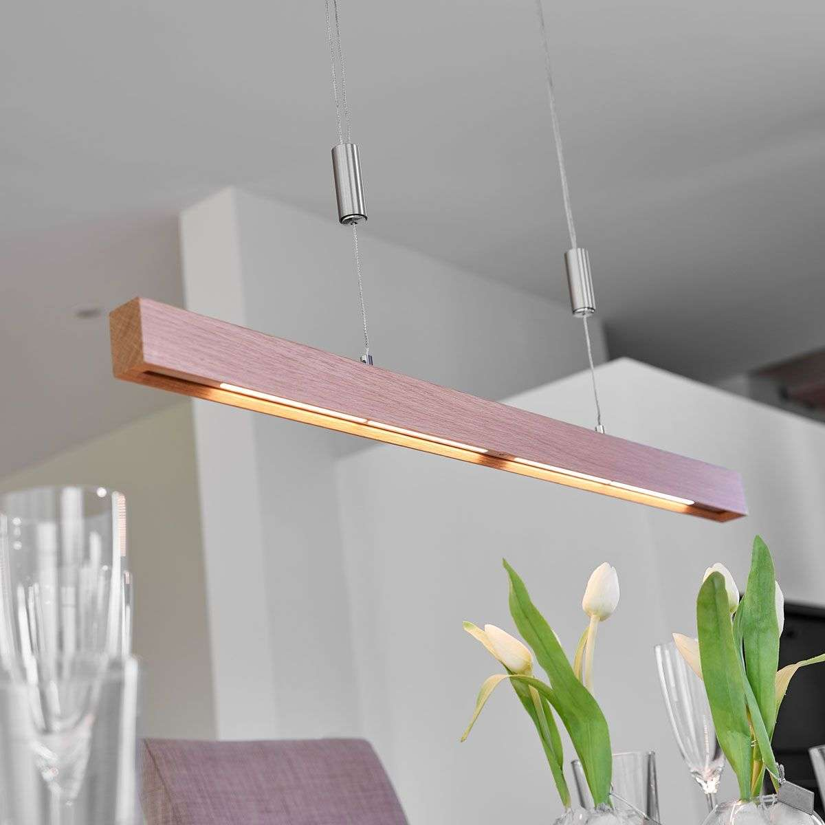 Linear oak led pendant lamp nora dimmable lights nora oak led linear pendant lamp dimmable 6722396 31 aloadofball Images