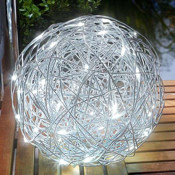 Outdoor light led solar aluminium wire ball lights outdoor light led solar aluminium wire ball greentooth Image collections