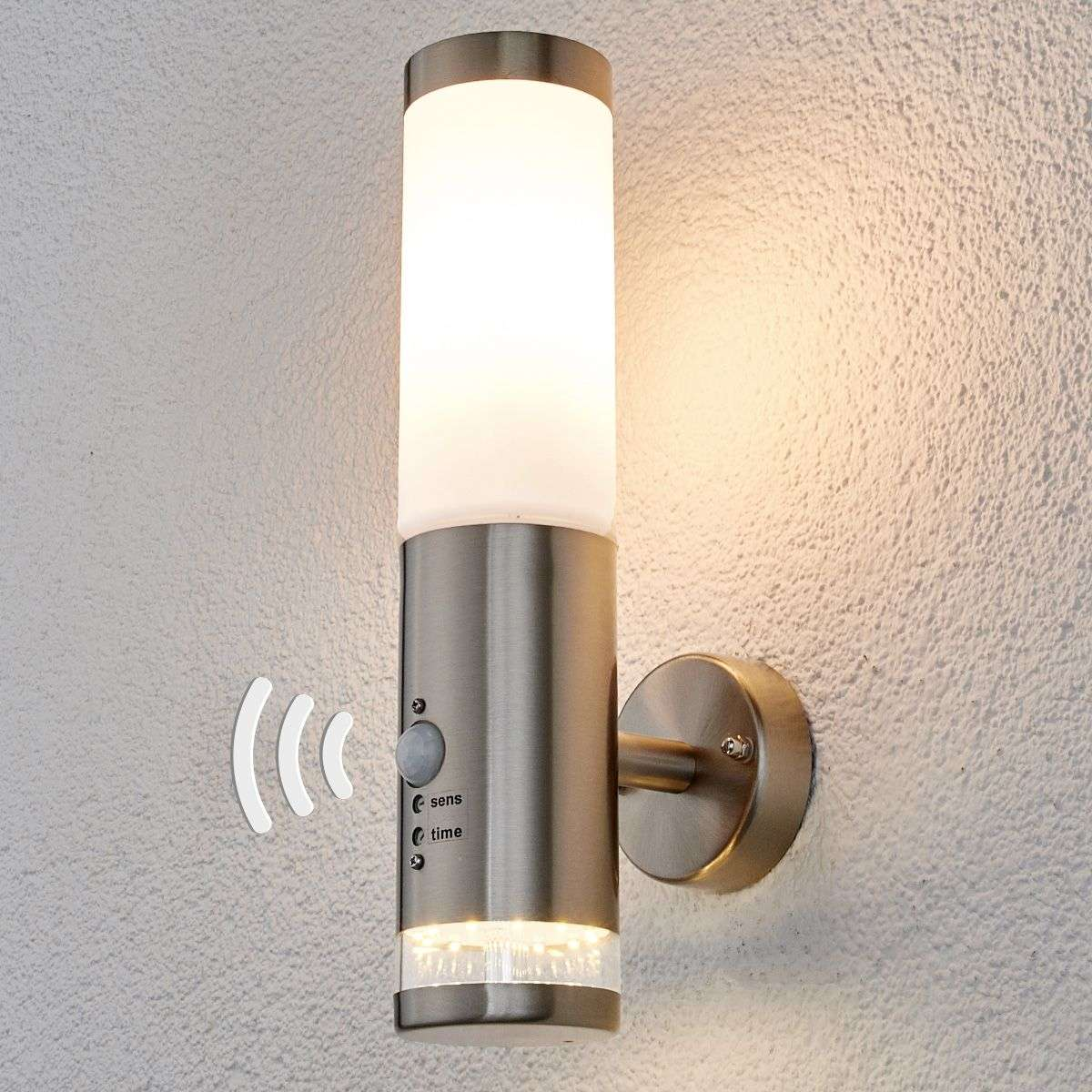 Outdoor wall light binka with sensor for Exterior wall light with motion sensor