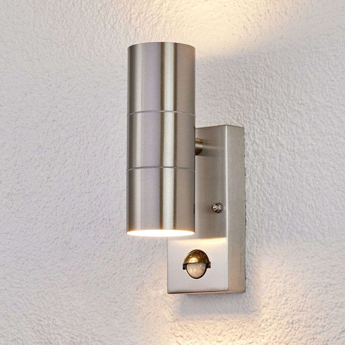 Outdoor wall light eyrin with motion detector for Exterior wall light with motion sensor