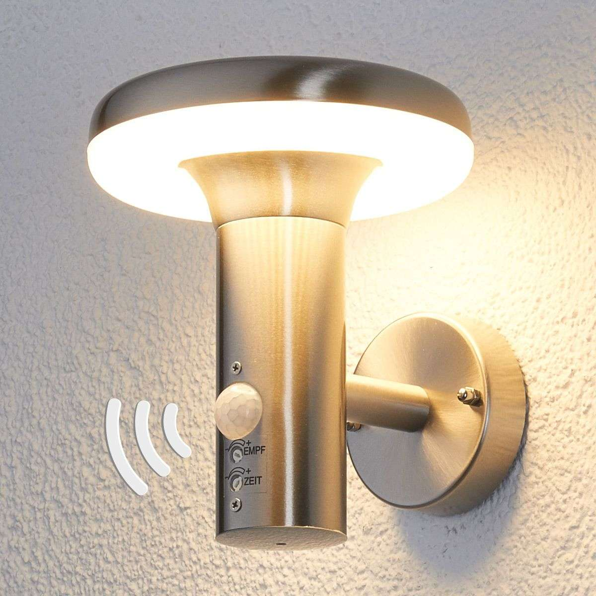 Pepina motion sensor led outdoor wall light for Exterior wall light with motion sensor