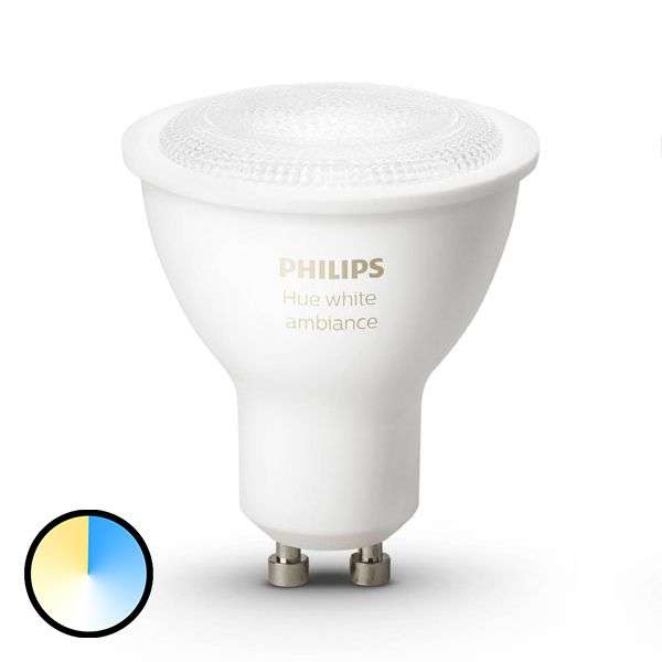 philips hue reflector white ambiance gu10 5 5w. Black Bedroom Furniture Sets. Home Design Ideas