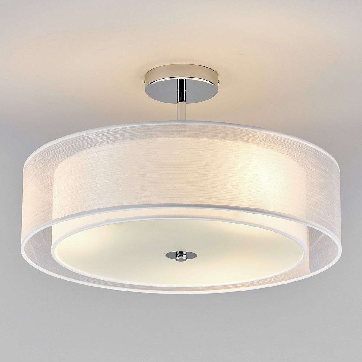 pikka led ceiling light with a white lampshade. Black Bedroom Furniture Sets. Home Design Ideas