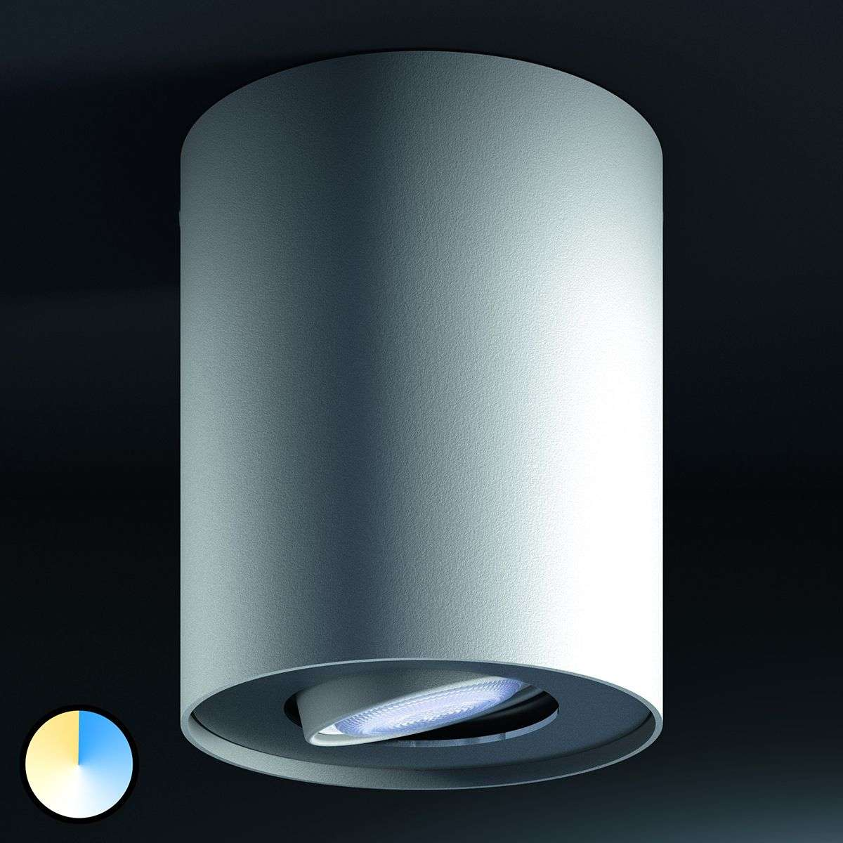 pillar philips hue led spotlight w dimmer switch. Black Bedroom Furniture Sets. Home Design Ideas