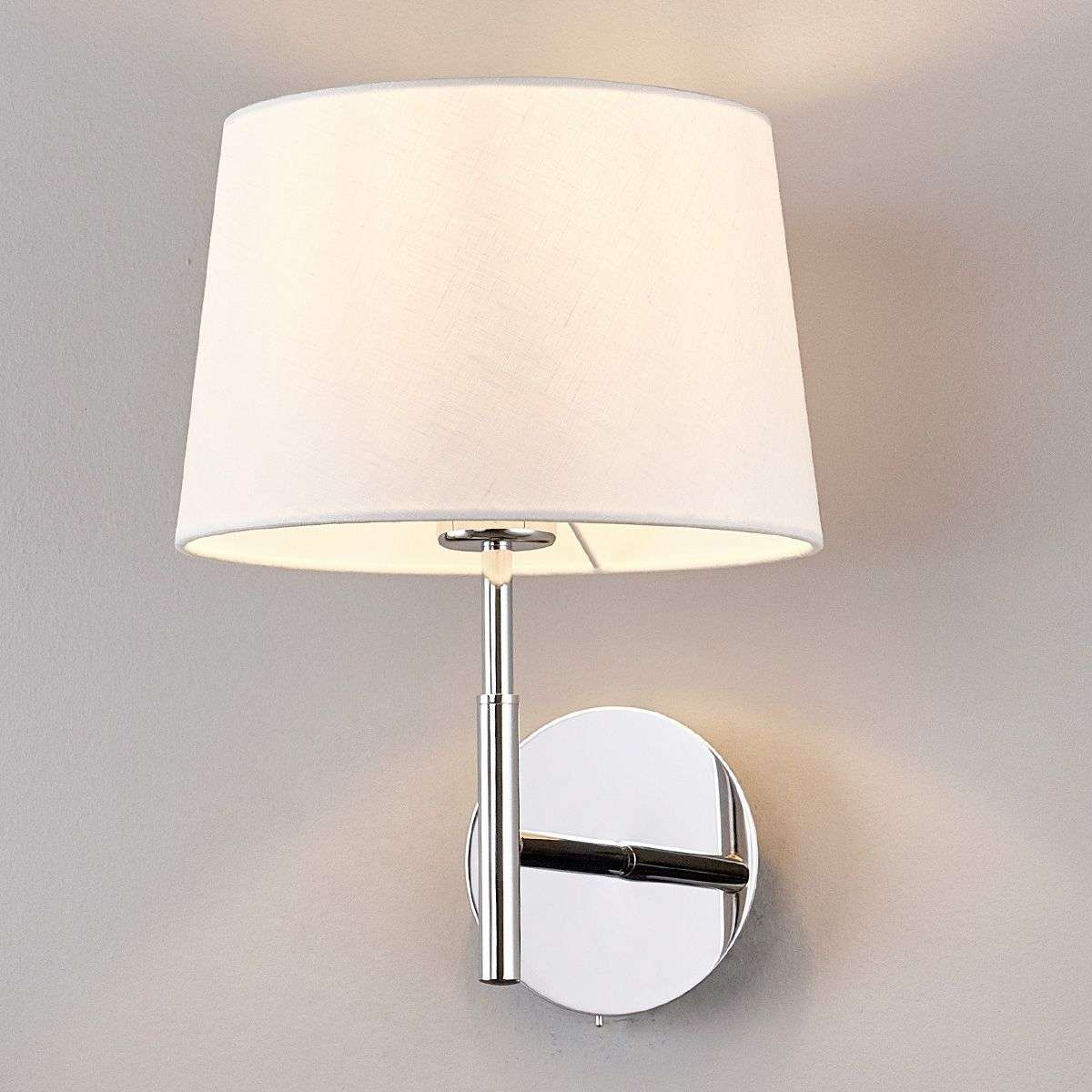 Pretty wall lamp dorothea with white fabric shade lights pretty wall lamp dorothea with white fabric shade 9976014 31 mozeypictures Gallery