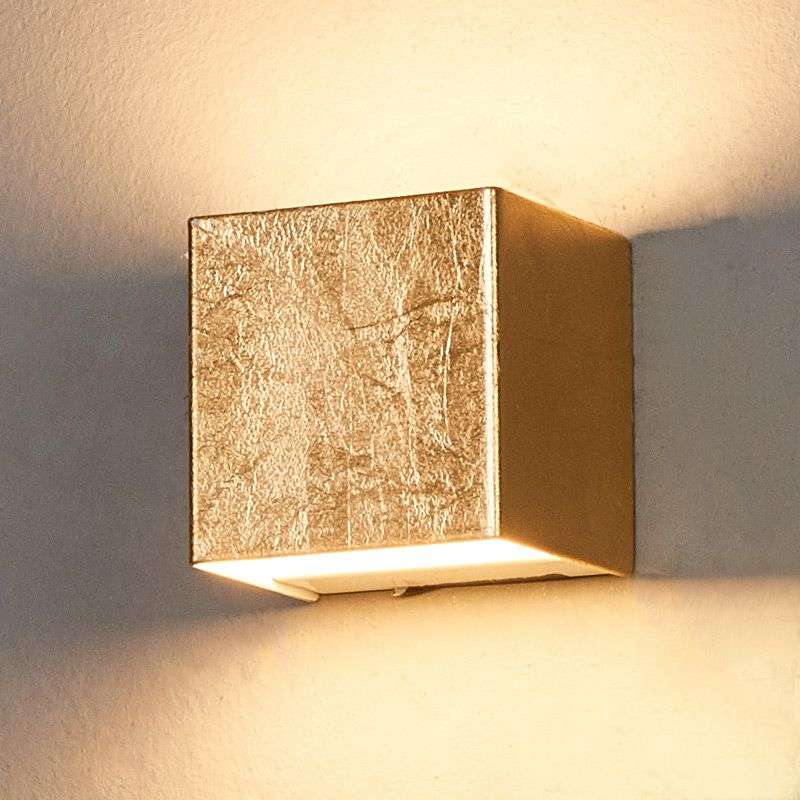 Quentin - gold-coloured LED wall light Lights.co.uk