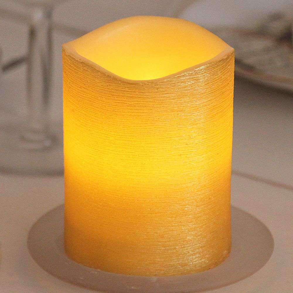 Real waxLED candle Linda structured 12.5 cm-1522542-31