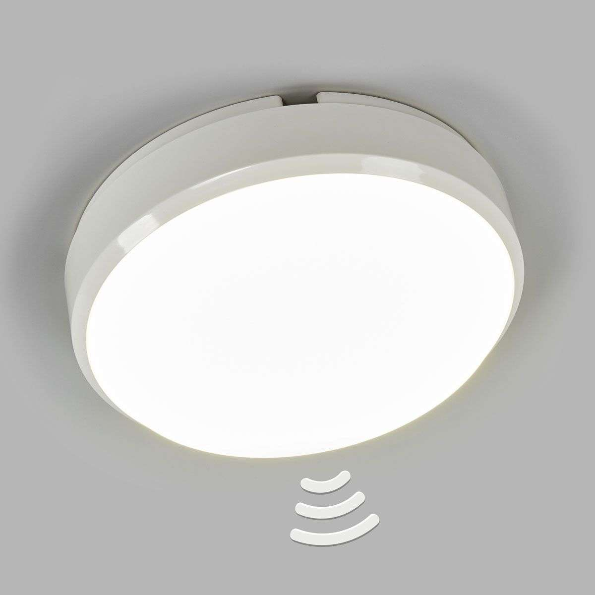 round led ceiling light bulkhead with sensor. Black Bedroom Furniture Sets. Home Design Ideas