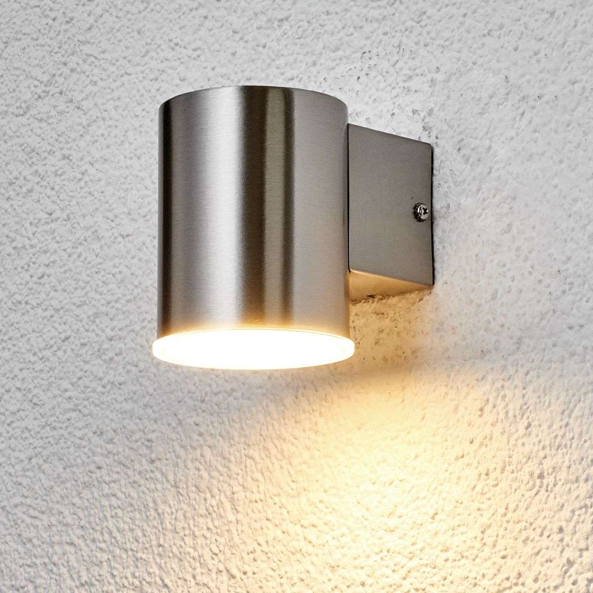 Typo Led Wall Light: Round Morena LED Stainless Steel Wall Light