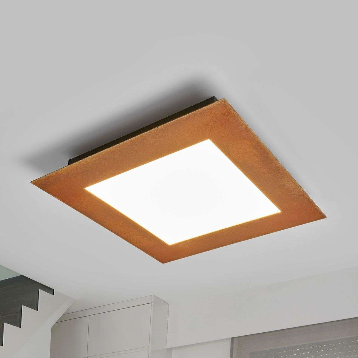 Rust coloured led ceiling light deno lights rust coloured led ceiling light deno 6722360 31 aloadofball Image collections