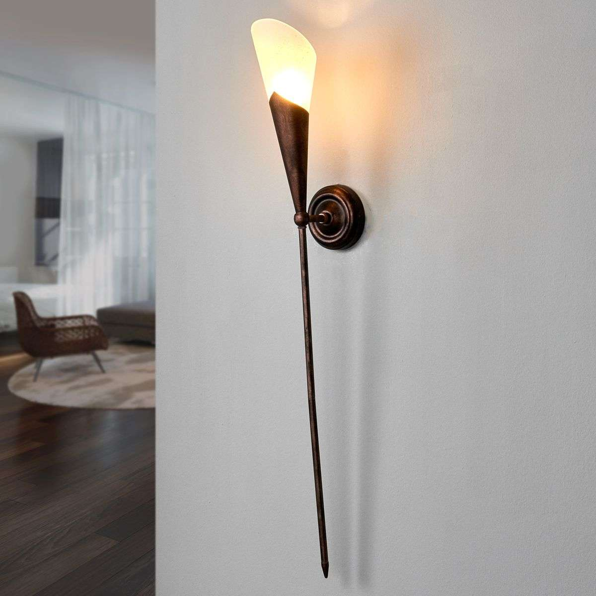 Rustic gothic wall torch in rust brown lights rustic gothic wall torch in rust brown audiocablefo