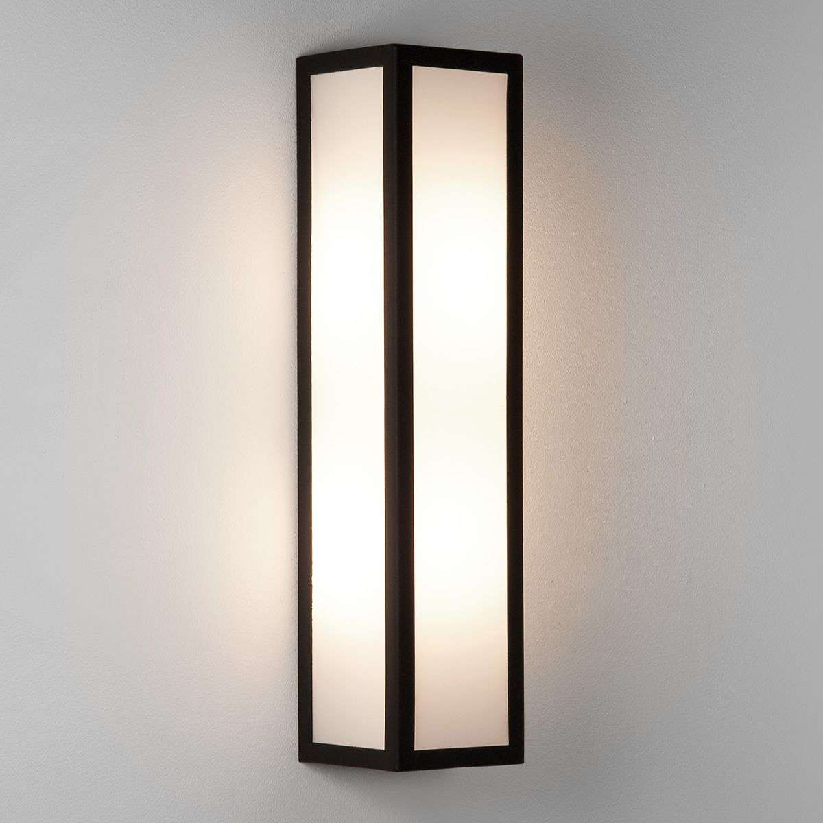 Salerno Outside Wall Light with White Glass-1020336-33
