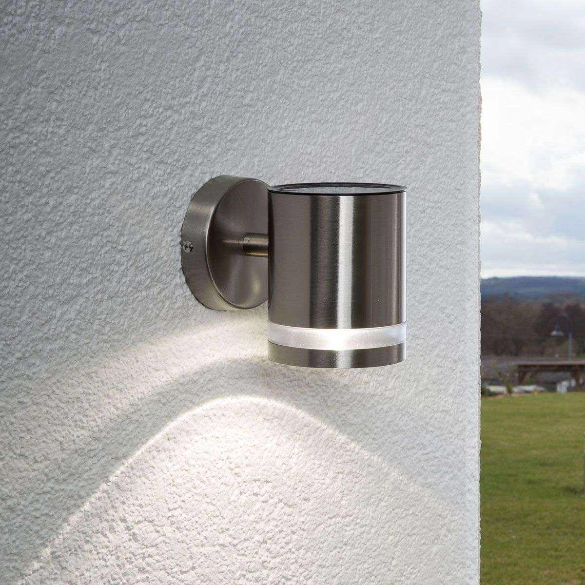 Salma solar wall light with LED | Lights.co.uk