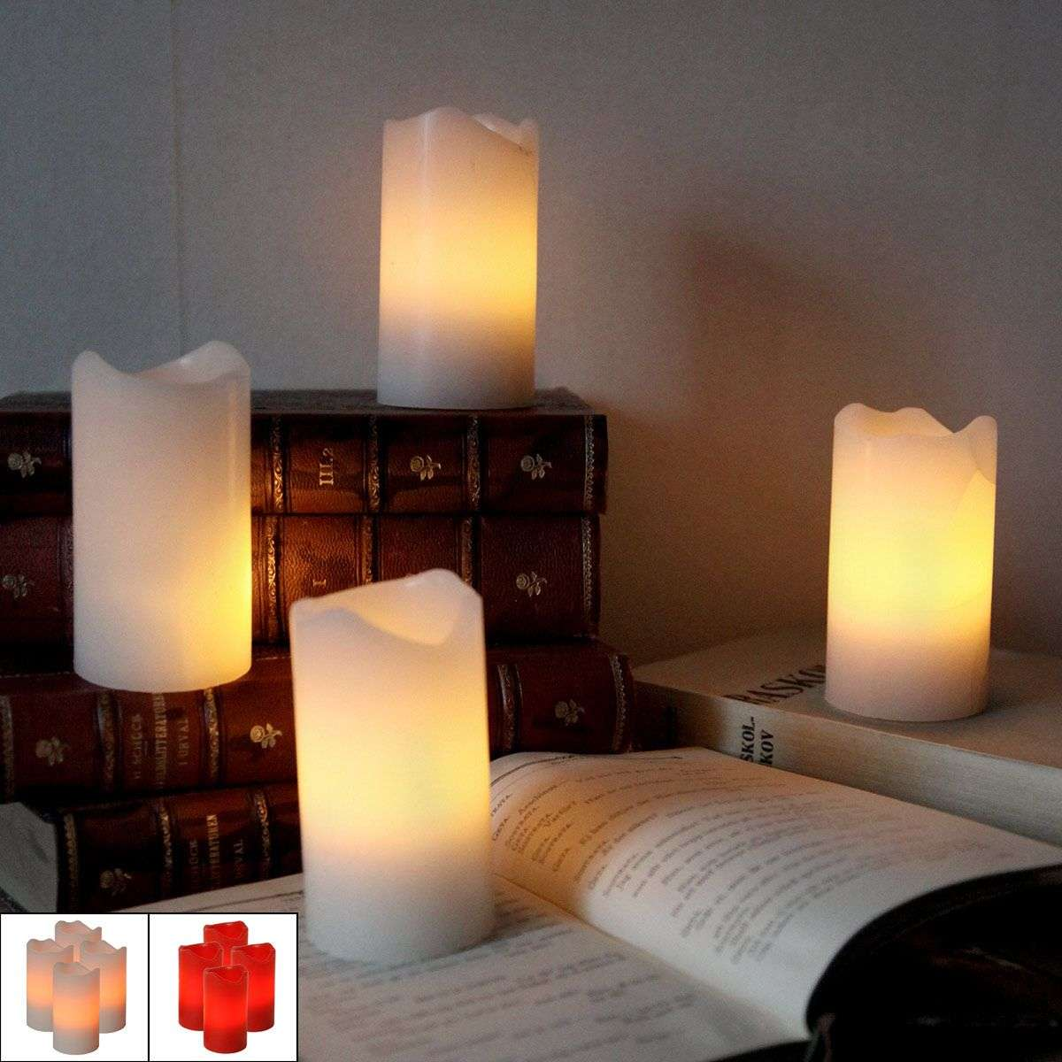 Set of 4 LED candles Candle with remote control-1522511X-31