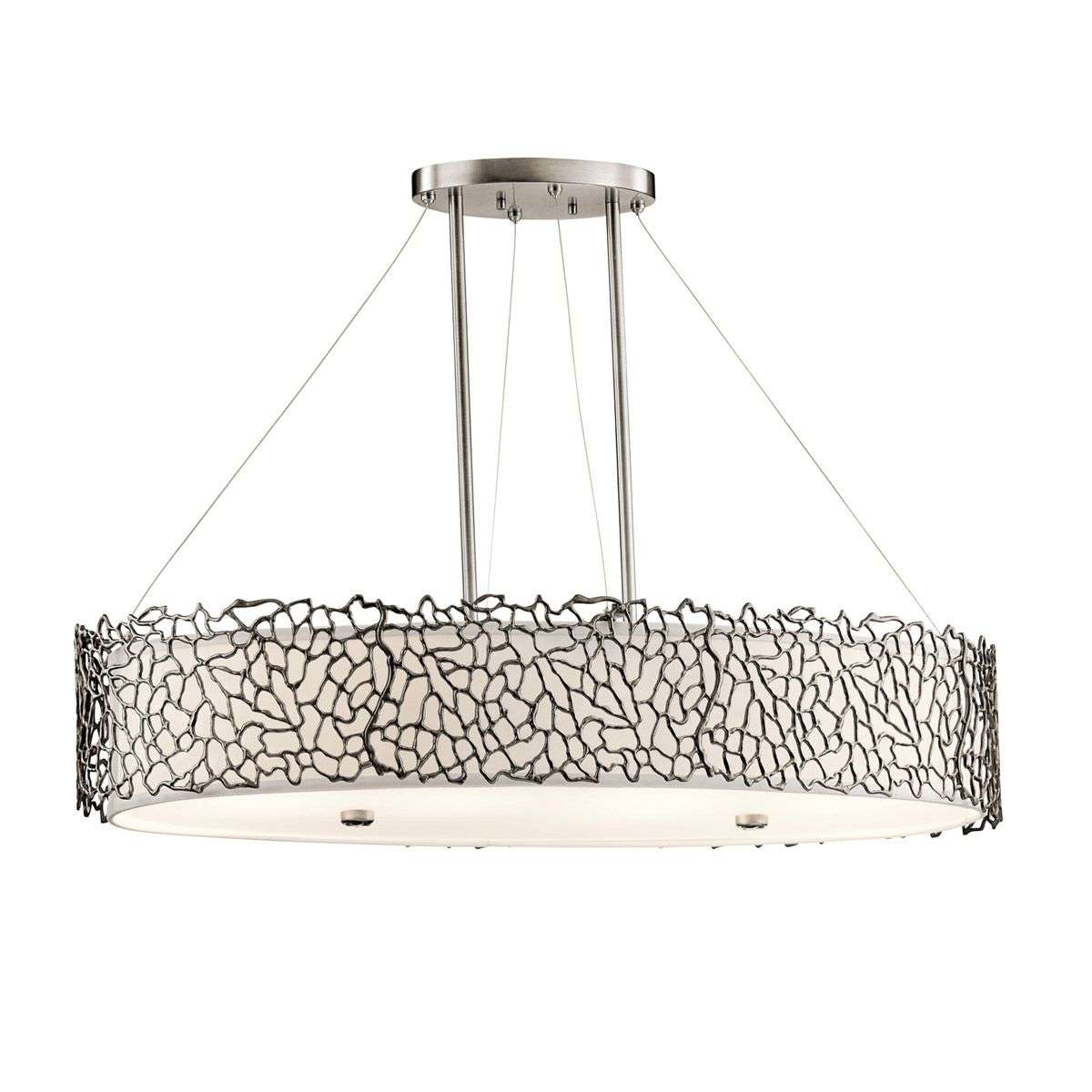 Silver coral oval pendant light lights silver coral oval pendant light 3048281 31 aloadofball Images