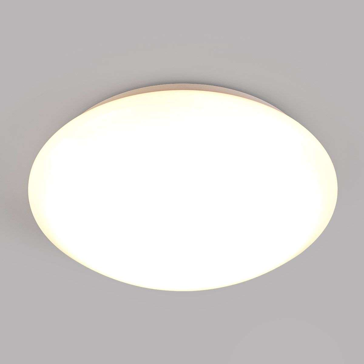 Simple LED bathroom ceiling lamp Selveta, 30 cm | Lights.co.uk