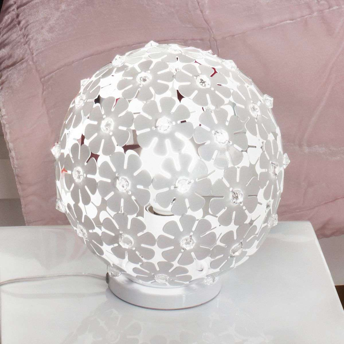 Spherical hanifa metal table lamp with flowers lights spherical hanifa metal table lamp with flowers 3031642 31 mozeypictures Choice Image