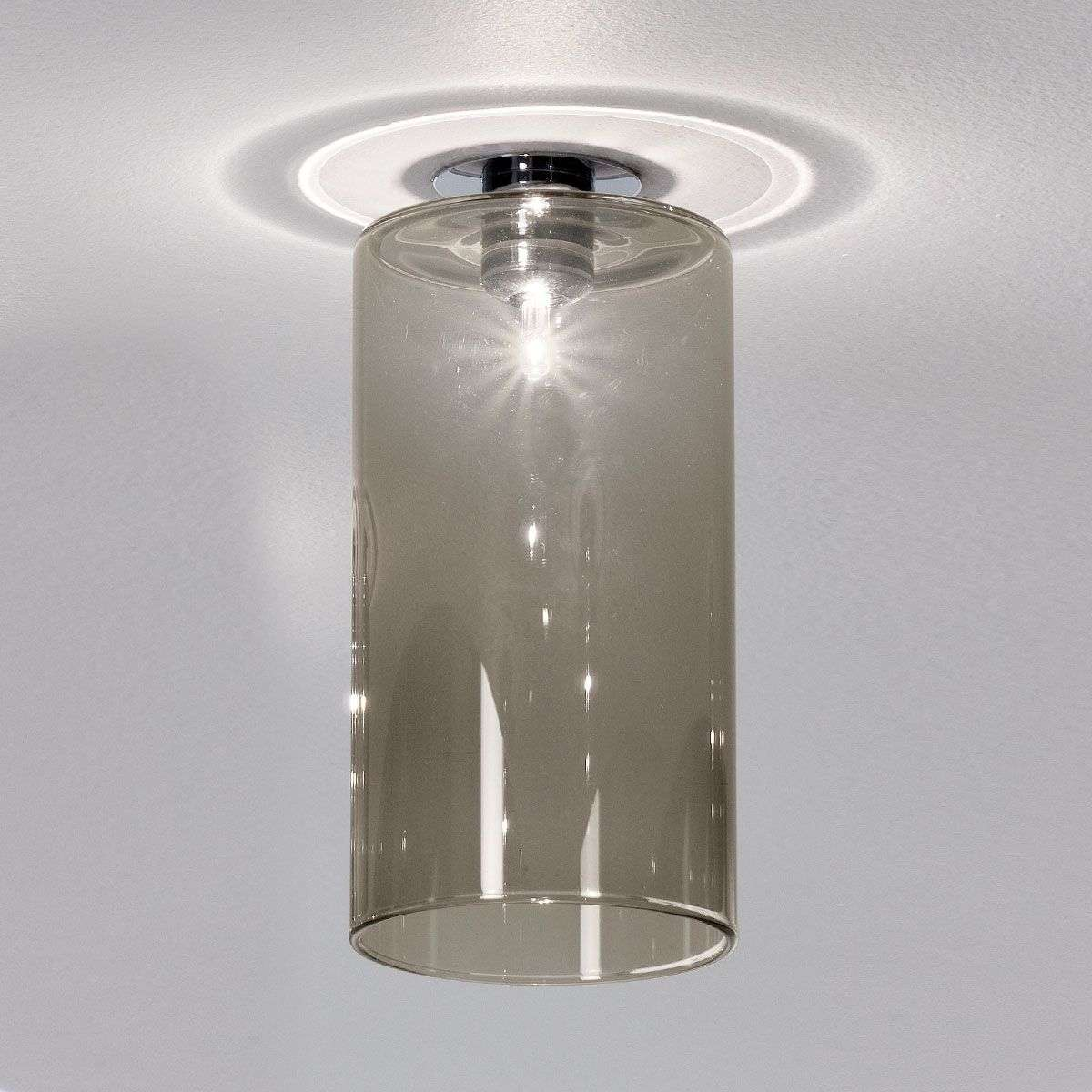 Spillray installed light with grey glass shade-1088050-31