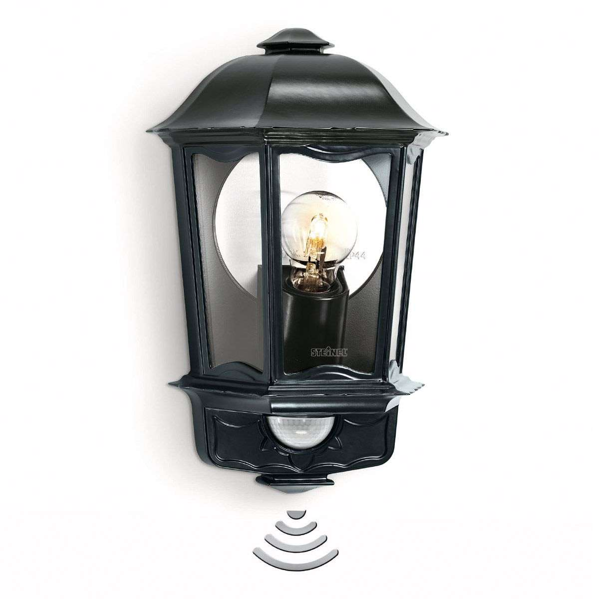 Outdoor Wall Light With Sensor: Steinel L 190 S Outdoor Wall Light With Sensor