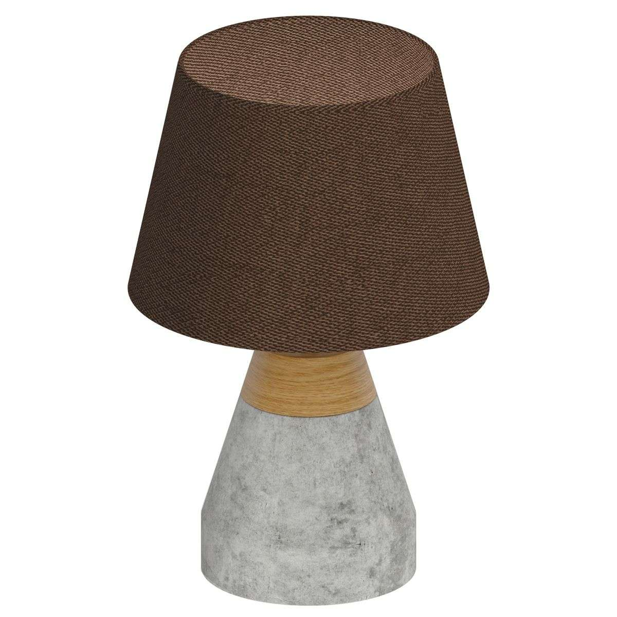 Stylish Tarega fabric table lamp, concrete base-3031819-31