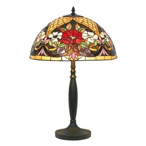 Table lamp with a floral pattern, Tiffany-style-1032153-31