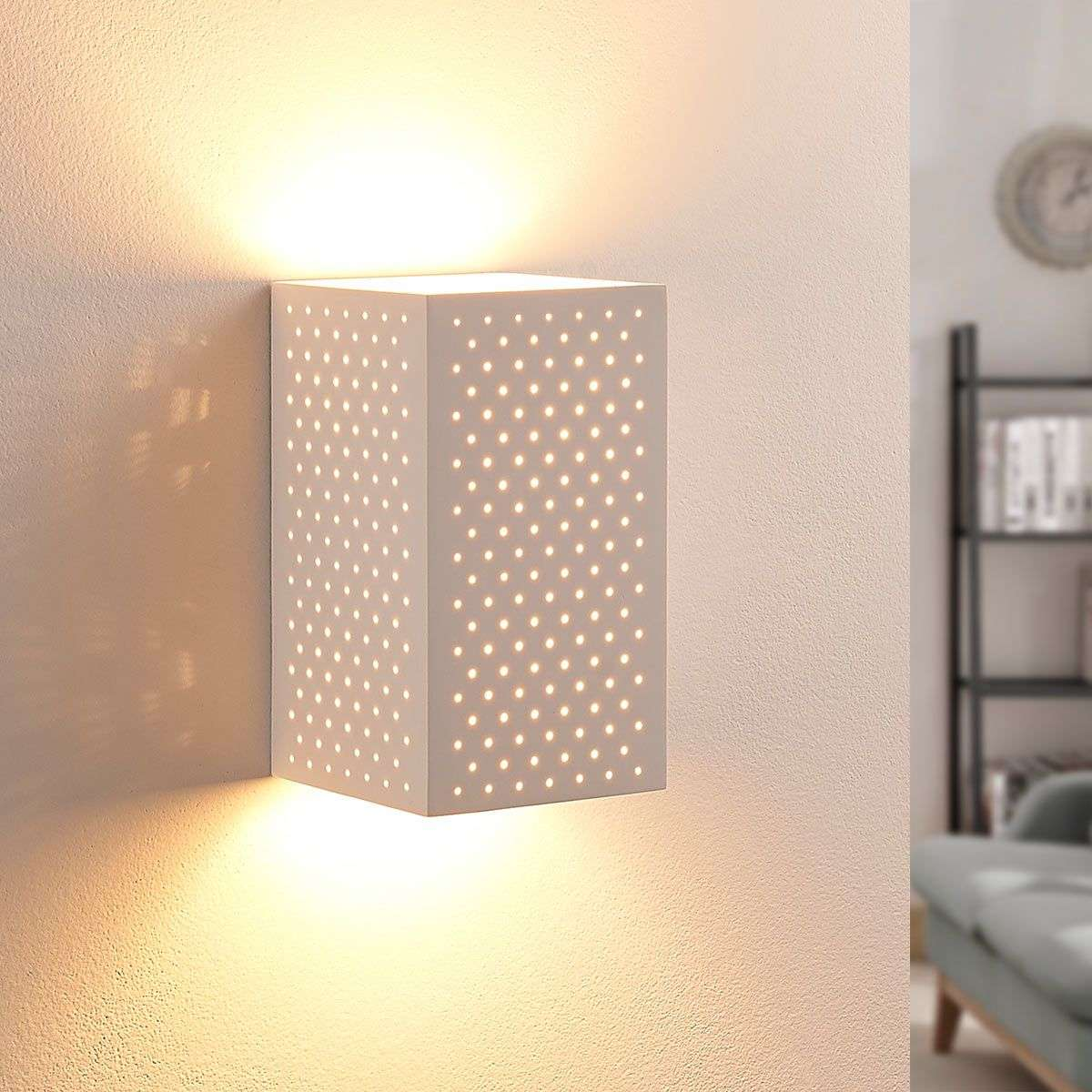 Led Wall Lights Plaster: Tereza - LED Plaster Wall Light With Holes