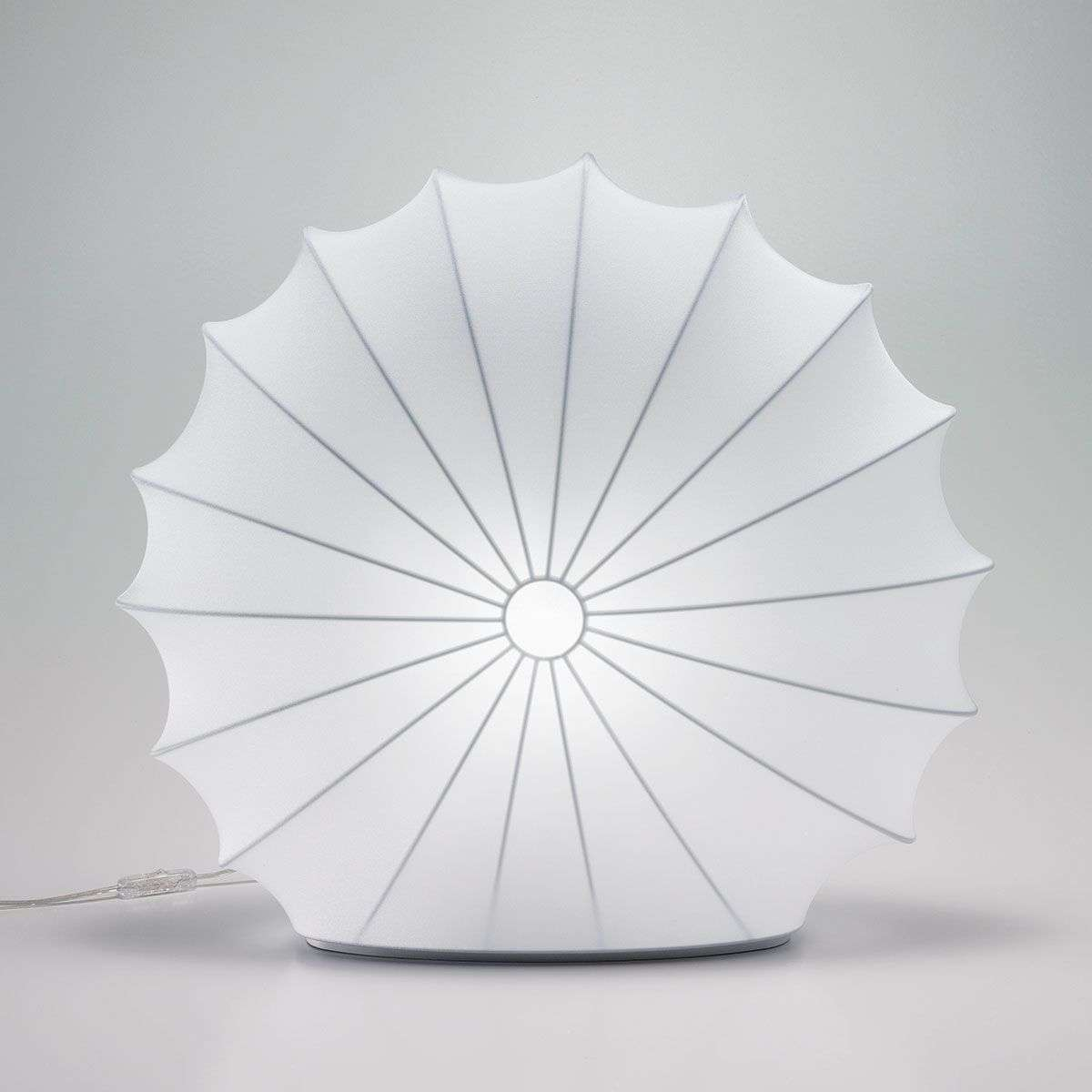 Textile table lamp Muse in white, 60 cm-1088053-31