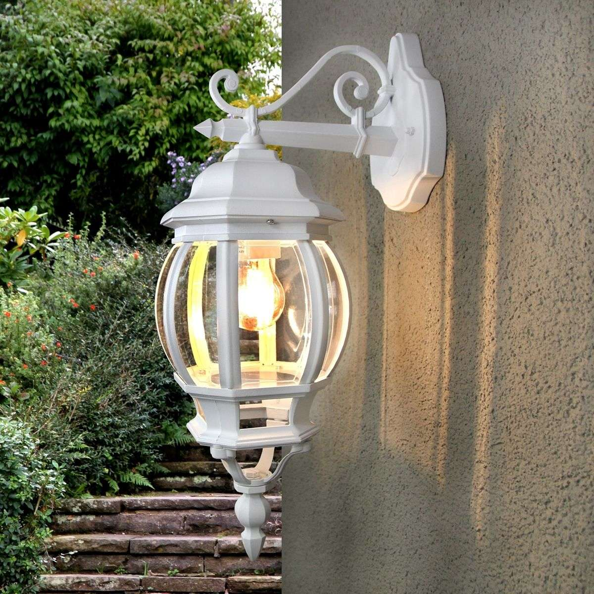 Theodor Outside Wall Light White | Lights.co.uk
