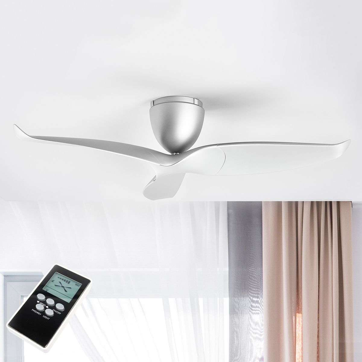 fan hunter gunnar matte in outdoor indoor fans without silver p lights ceiling