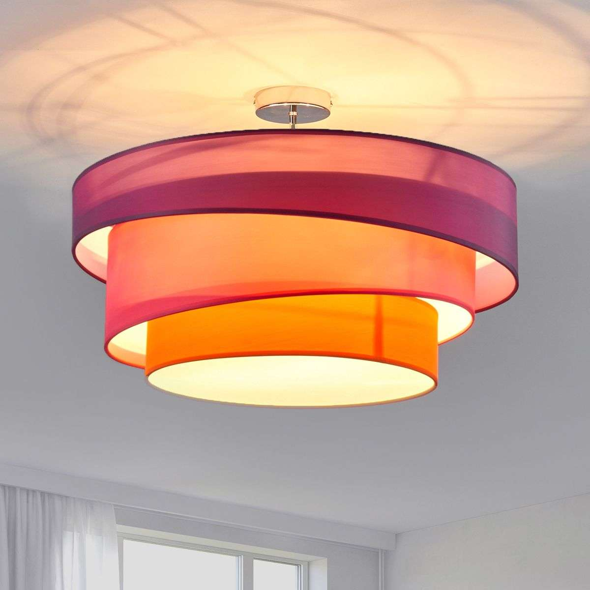 Three coloured ceiling light melia violet pink lights three coloured ceiling light melia violet pink aloadofball Image collections