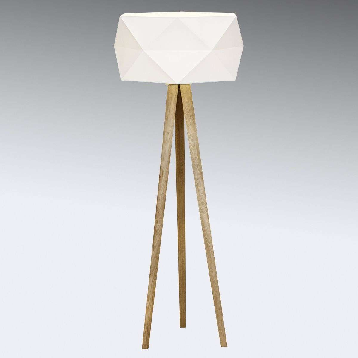 Tripod Floor Lamp Uk Part - 41: Tripod Floor Lamp Polygon With Fabric Lampshade-1509205-31