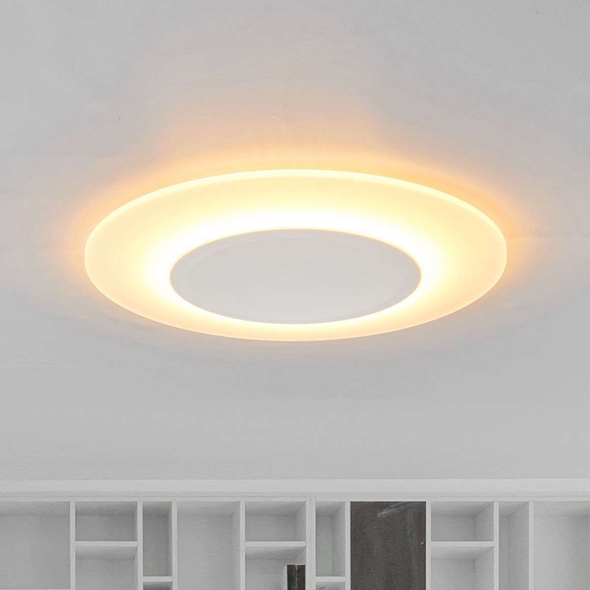 Very flat ceiling light led flat 1 200 lumens for Lights company