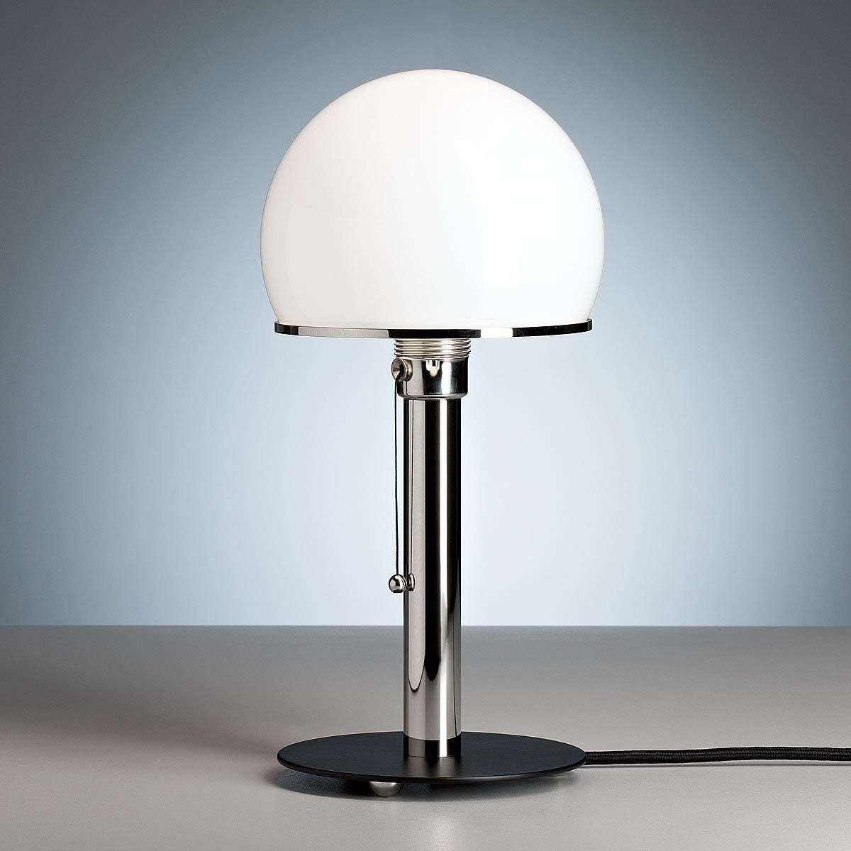 wagenfeld table lamp with a black painted base. Black Bedroom Furniture Sets. Home Design Ideas