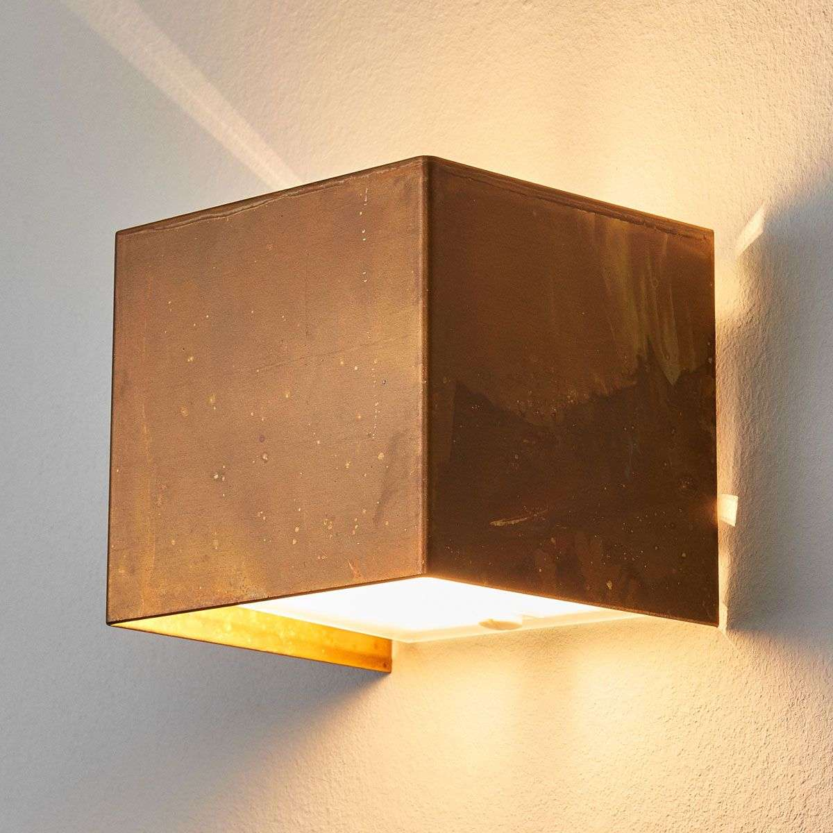 Landscape Supply Co >> Wall lamp LOLA with oxidized brass | Lights.co.uk