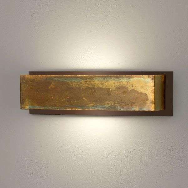 Wall light lola 35 cm in brass and brown lights wall light lola 35 cm in brass and brown aloadofball Choice Image