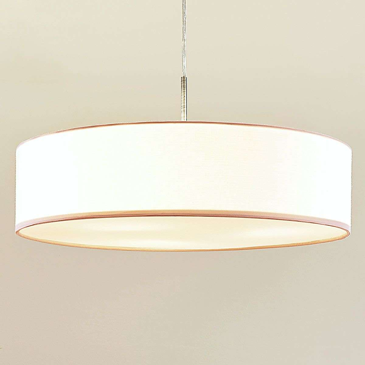 White sebatin led fabric pendant lamp lights white sebatin led fabric pendant lamp 9620321 32 parisarafo Choice Image