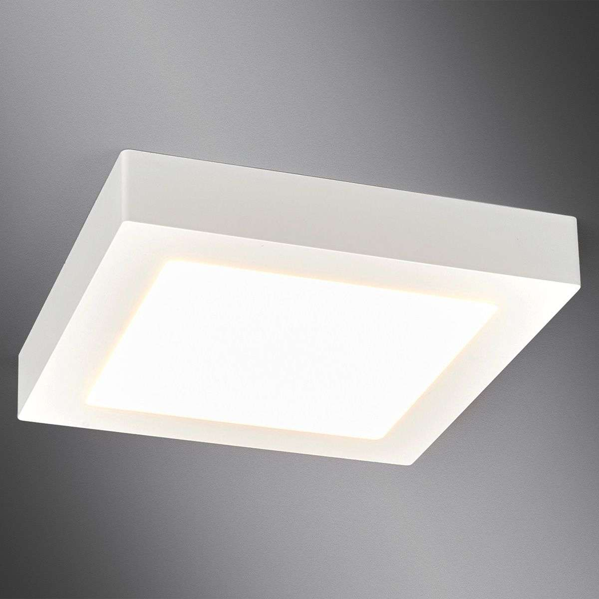 White Square Led Bathroom Ceiling Light Rayan