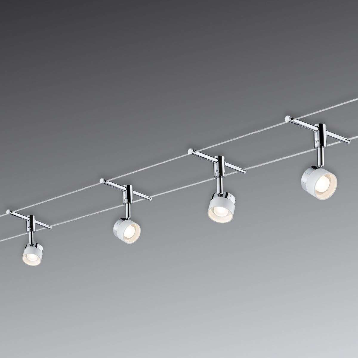 With 4 round lights - LED cable system Stage & With 4 round lights - LED cable system Stage | Lights.co.uk