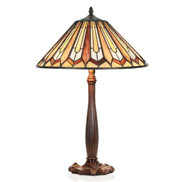 With a brown base the table lamp Farina-1032330-31
