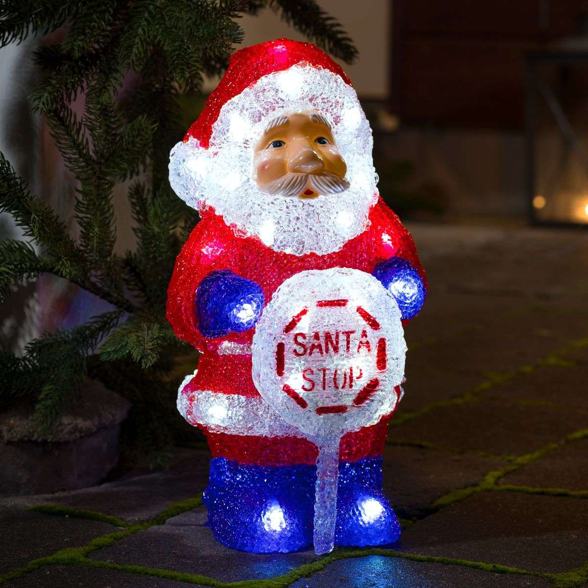 With an integrated timer LED outdoor Santa Claus-5524591-31
