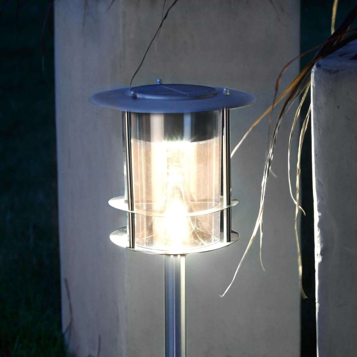 Outdoor Solar Lights In Ground: With Ground Spike - LED Solar Light Garden Stick