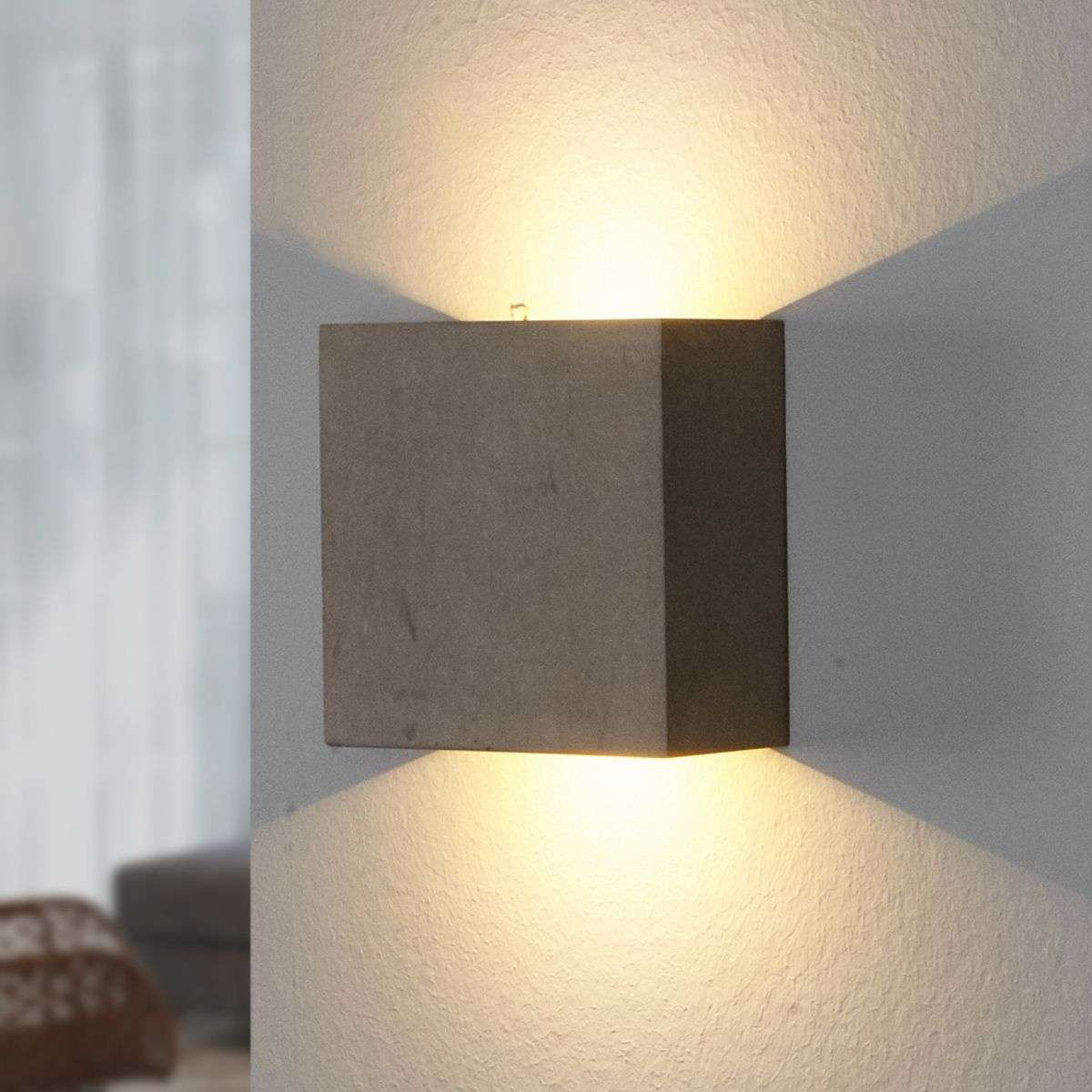 Yva - LED wall light made of concrete Lights.co.uk