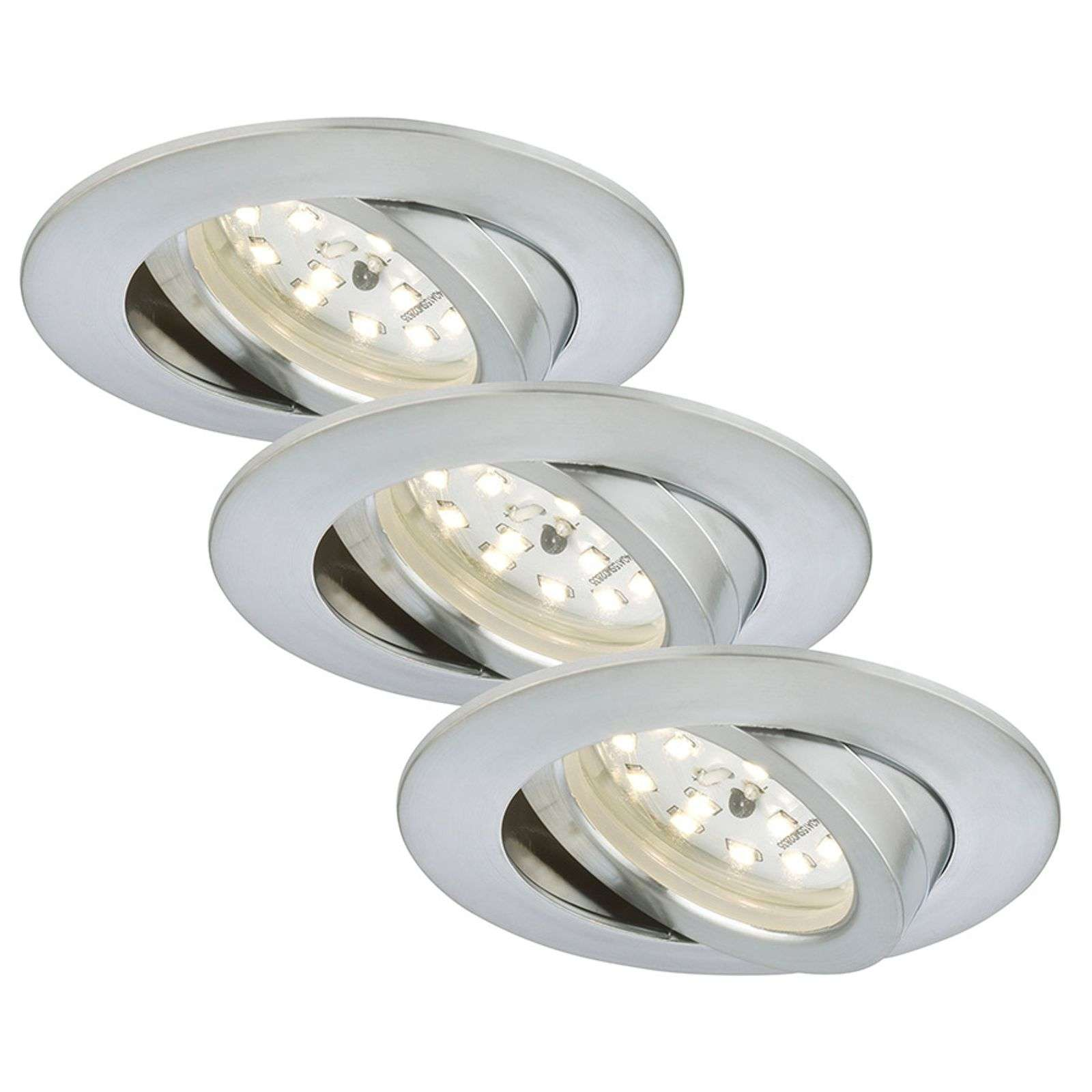 Set of three - LED recessed light Bert, pivotable