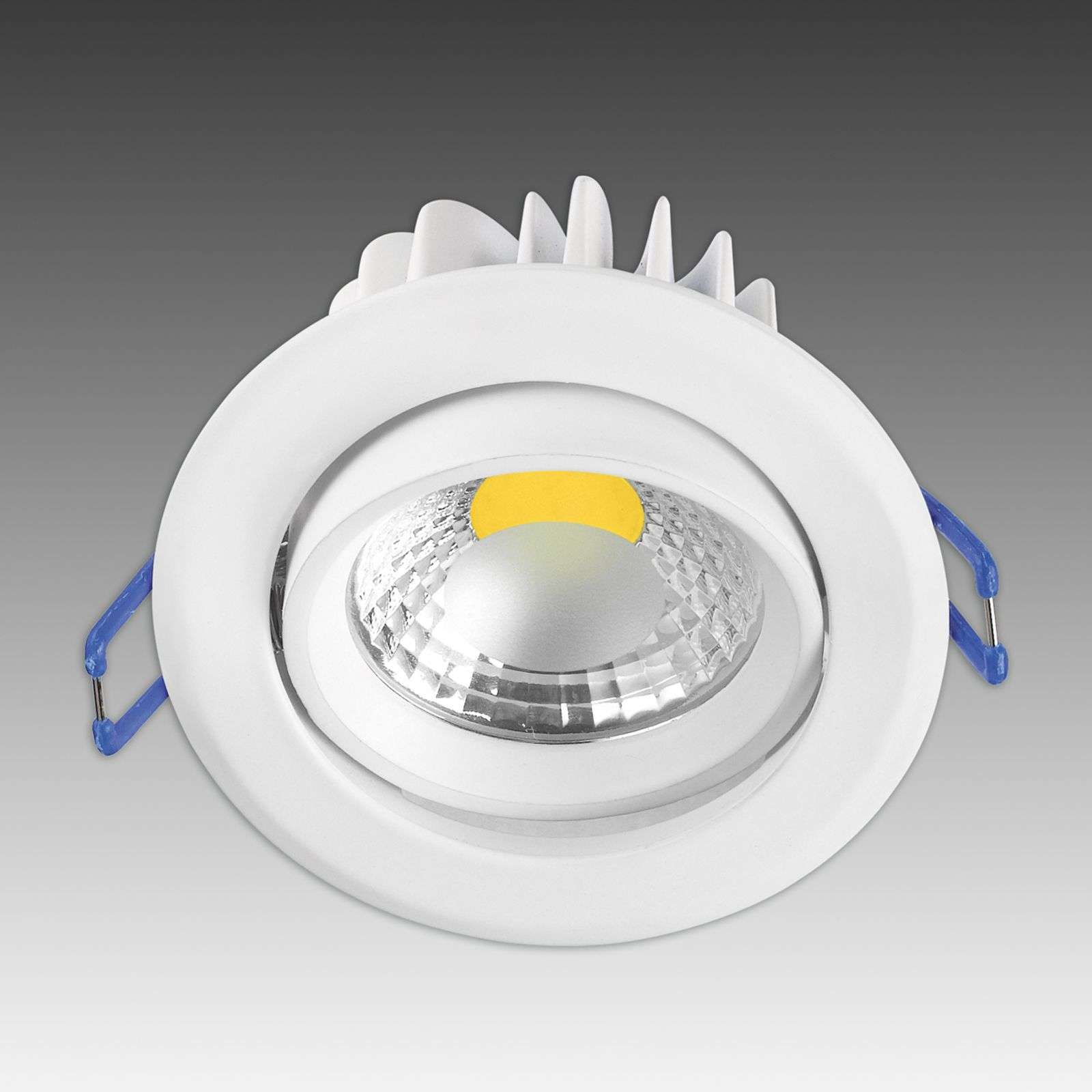 Powerful Krone recessed spotlight with LED - white