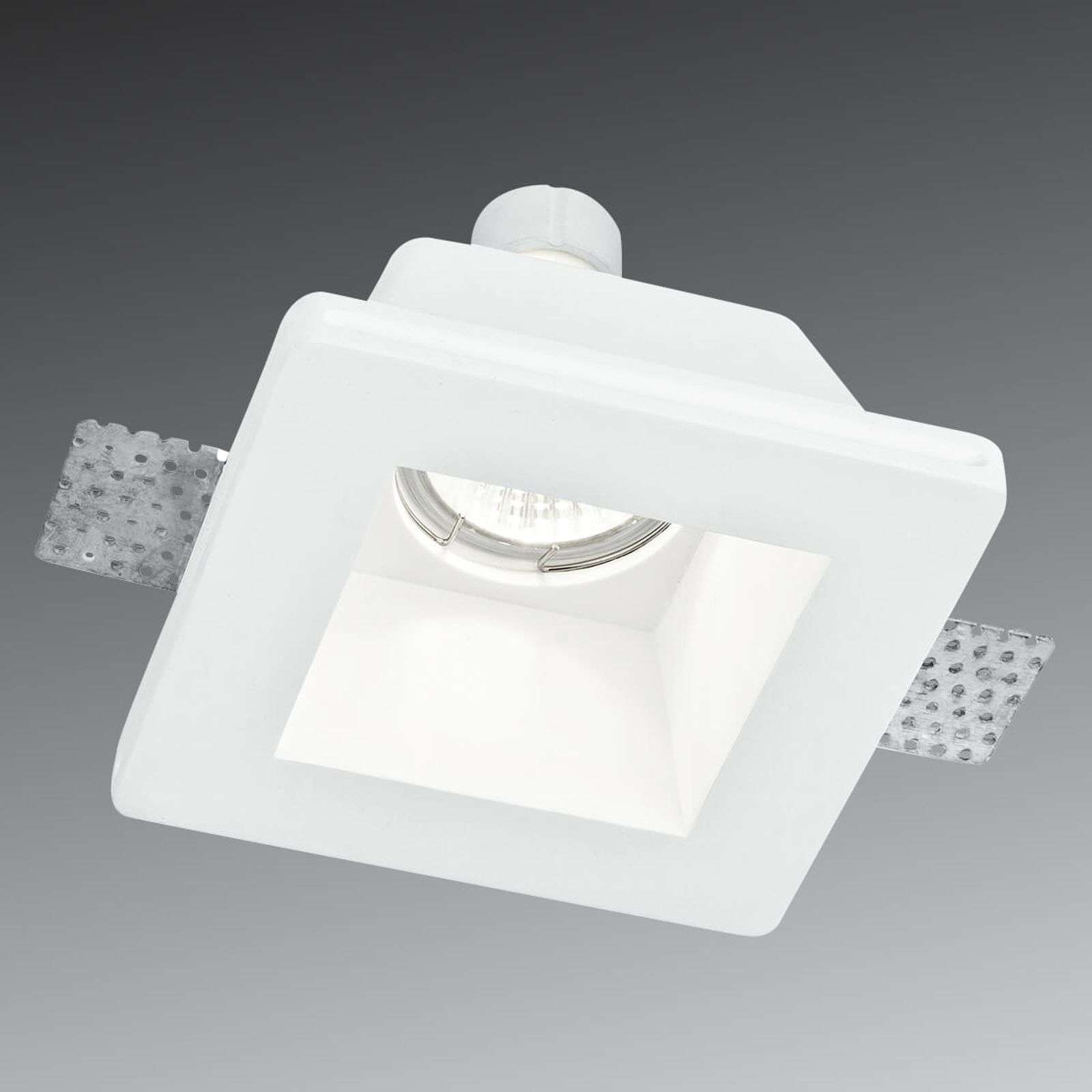 Paintable recessed light Ghost made of plaster