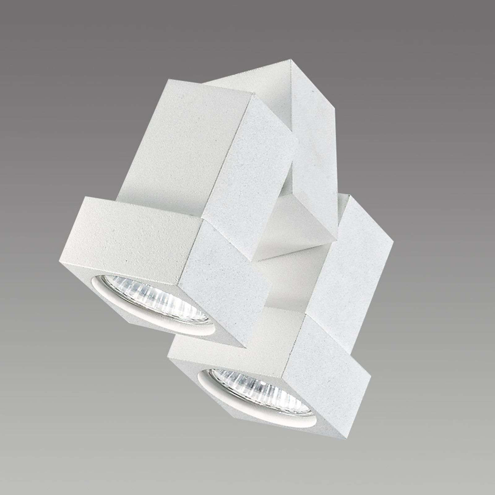 STYLE Q ceiling or wall spotlight, two-bulb, white